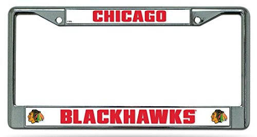 (NHL Chicago Blackhawks Standard Chrome License Plate Frame)