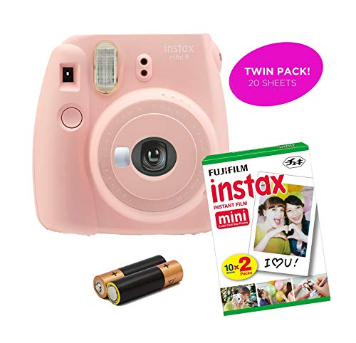 Certified Amazing – Instax Mini 9 & Instax Mini 7S Instant Camera Product Bundles | Film Pack Options | Renewed (Mini 9 + 1 Film Pack, Rose Quartz)