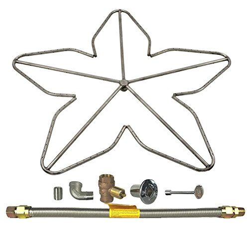 Spotix HPC Penta Fire Pit Burner Kit (FPS-PENTA36KIT-NG-MSCB), 36-Inch Burner, High Capacity, Match Light, Natural Gas