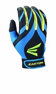 Easton Synergy II Fastpitch Batting Gloves, Blue/Green/Black, Small
