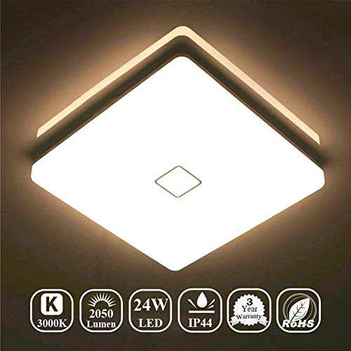 2 Lights Ceiling Lamps - Airand LED Ceiling Lights 24W Fixture Flush Mount 3000K Square LED Ceiling Lamps with 240Pcs LED Chips for Bedroom Bathroom Kitchen Stairwell, 12.6 Inch, 2050 Lumens (Warm White)