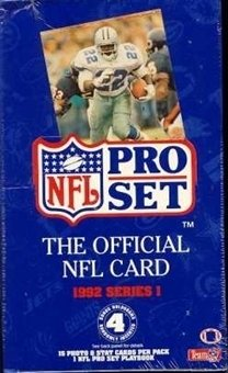 1992 Pro Set Football Series 1 Box