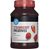 Amazon Brand - Happy Belly Strawberry Preserves, 30 Ounce
