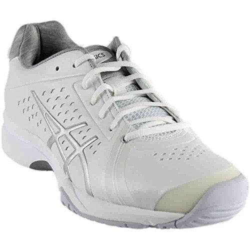 ASICS Women's Gel-Court Bella Tennis Shoe, White/Silver/White, 8 M US by ASICS