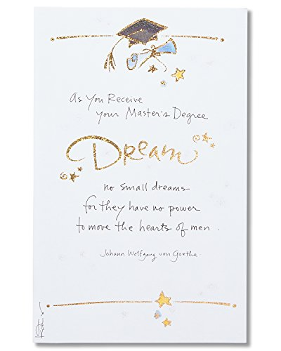 American Greetings Master's Degree Graduation Card with Glitter