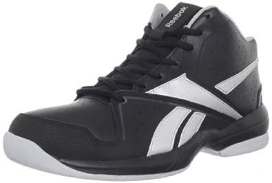 Reebok Men's Buckets VII Basketball Shoe,Black/Pure Silver/Gravel,10 M US