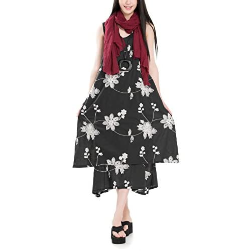 Cheap enjoysweety Women's Printing Dress Travel Line Clothing With Pockets (Fit US S-L) for cheap