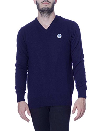 North Men Green 6138v Azul Sweater Sails Maglione Uomo Wool fxxEPzqa