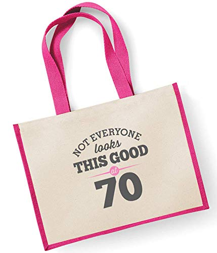 Gift Birthday Shopping Looking Good Gifts Bag 70th Idea Ladies Gift Gift Women Bag Present Birthday Gift Female Ladies For Fuchsia Fuchsia Keepsake Funny Gifts Gift Tote Novelty Gift wfOqSwA