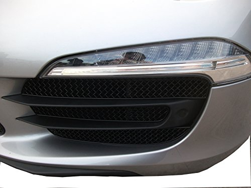 Porsche Carrera 4S 991 (PDK with Parking Sensors) - Outer Grille Set - Black finish (2012 to (Zunsport Grilles)