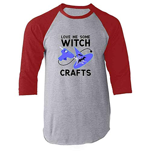 Love Me Some Witch Crafts Red S Raglan Baseball Tee Shirt ()