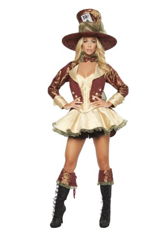 Roma Costume Deluxe 4 Piece Tea Party Hatter
