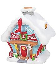 Department 56 Dr. Seuss The Grinch Village Who-Ville Stocking Store Lit Building, 7.17 Inch, Multicolor