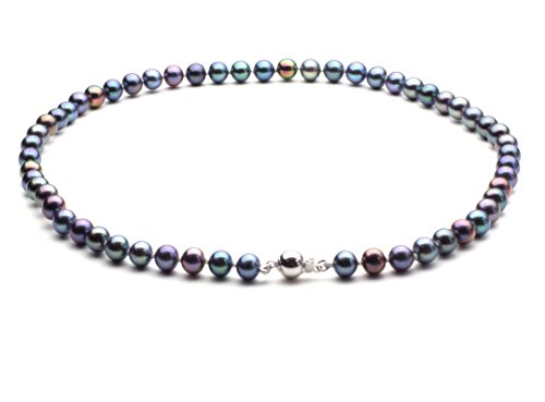 HinsonGayle AAA Handpicked 6.5-7mm Multicolor Black Round Freshwater Cultured Pearl Necklace 16 inch-16 in length by HinsonGayle Fine Pearl Jewelry
