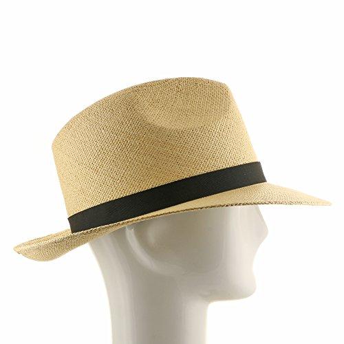 FEDORA PACKABLE FOLDABLE Panama Straw Hat CLASSIC 7 1 4 - Import It All b38ba702845