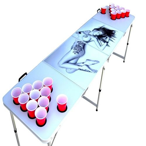 tattoo beer pong table - 8