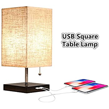 Zeefo Simple Table Lamp Bedside Desk Lamp With Fabric