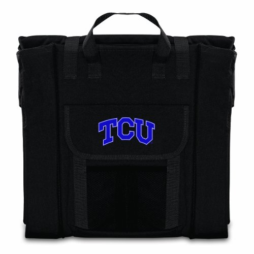 PICNIC TIME NCAA Texas Christian Horned Frogs Portable Stadium Seat by PICNIC TIME