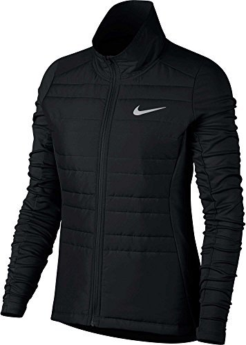 Nike Women's Essential Full Zip Running Jacket (XS, Black)