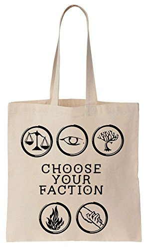 Choose Your Faction Sacchetto di cotone tela di canapa