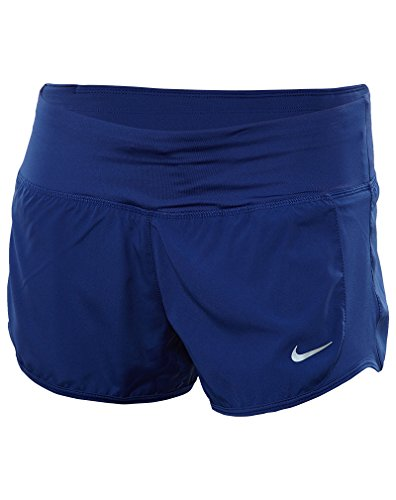 Nike Crew Pantalón Corto, Mujer Deep Royal Blue/Reflective Silver