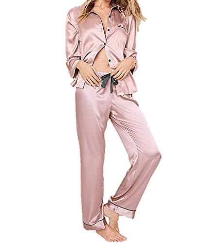 Victorias Secrets Pink Blush Satin Pajama Pants Set Small