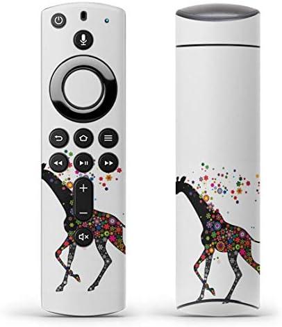 igsticker Fire TV Stick 第2世代 専用 リモコン用 全面 スキンシール フル 背面 側面 正面 ステッカー ケース 保護シール 006402 アニマル 花 フラワー 動物