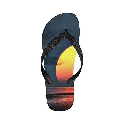 D-Story Sunset and Sea Flip Flops Beach Sandals For Men/Women AqH3Cc0ZT