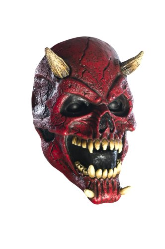 (Foam Latex Mask, Horned Skull)