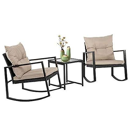Amazon.com: BestMassage - Juego de muebles para exteriores ...