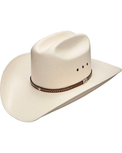 Leather Resistol - Resistol Men's George Strait Hamilton 10X Shantung Straw Cowboy Hat Natural 7 3/8