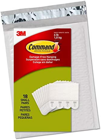 Command Picture Hanging Strips Decorate Damage-Free 18 pairs (36 strips) Ships In Own Container
