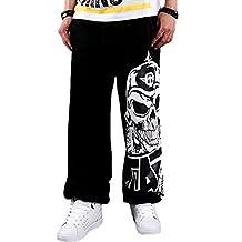 Upopby Men's Skull Hip Hop SkateBoarding Sweatpants Fleece Pants