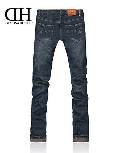 Uomo 806 Ragazzo Vintage Dritto Taglio Moda Blau Serie Da A Pantaloni Jeans Casual Denim 6x5aaq
