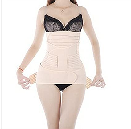7172a0c395 Image Unavailable. Image not available for. Color  Enshey 3 in 1 Postpartum  Support Breathable Recovery Belly Girdle Slimming Belt Waist Pelvis Belt