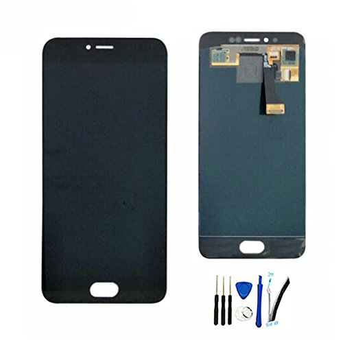 LCD Display Screen digitizer Touch Assembly For Meizu Pro 6S replacement black