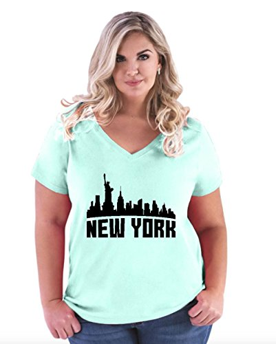 New York City Souvenir Womens Curvy Plus Size