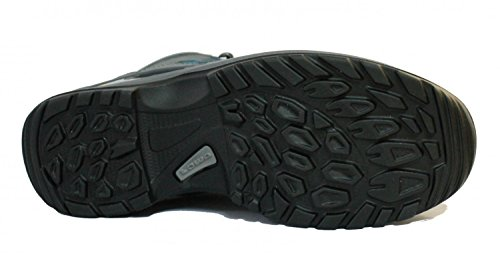 Lowa Damen Trekking-Schuh Stratton DLX GTX Mid Ws All Terrain grau / türkis GRAU/TUERKIS