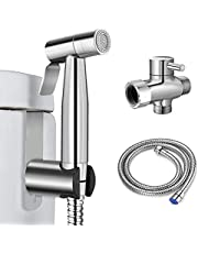 Handheld Bidet Sprayer Kit, Cloth Diaper Sprayer, Premium Stainless Steel Toilet Sprayer with Long Hose, for Toilet Cleaning, Pet Shower, Bidet Cleaning Personal Cleaning