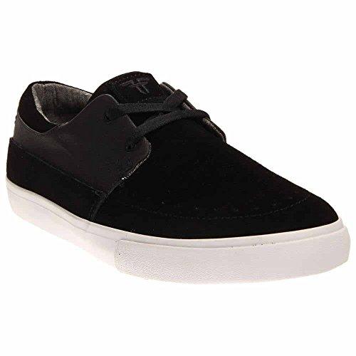 Fallen Men's Roach Skateboard Shoe, Black/Grey Chambray, 8 M US