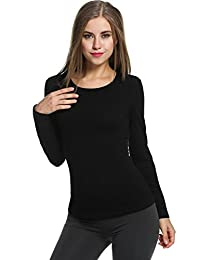 Avidlove Womens Wicking Thermal Winter Shirt Crew Fleece lined Tops