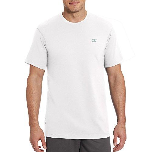 Champion Vapor Mens Cotton Basic Tee T0351_White_XL