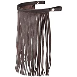 Tough-1 Leather Fly Veil with Leather Straps