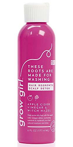 Grow Girl Hair Regrowth Scalp Detox Shampoo With Apple Cider Vinegar and Witch Hazel | Gluten Free and Non GMO | Stimulating Hair Loss Treatment for Women | Natural Ingredients, Lavender | 6 Oz