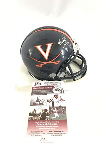 (Signed Heath Miller Mini Helmet - VIRGINIA CAVALIERS - JSA Certified - Autographed College Mini Helmets)