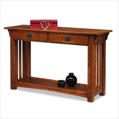 Amazon Com Leick Furniture Mission Sofa Table Medium Oak Kitchen