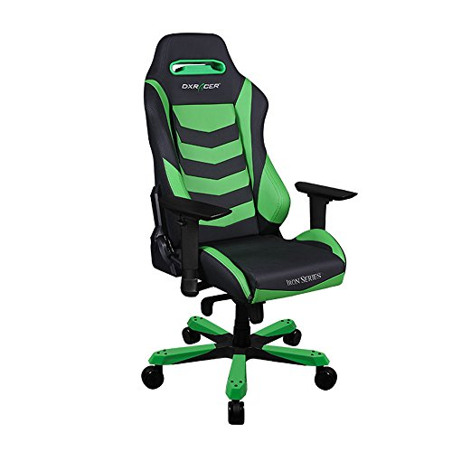DXRacer Iron Series DOH/IB166/NE Newedge Edition Racing Bucket Seat Office Chair X Large PC Gaming Chair Computer Chair Executive Chair Ergonomic Rocker With Pillows (Black/Green) Review