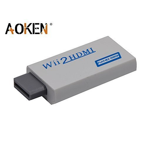 Aoken Wii to HDMI Converter - Supports All Wii Display Modes, HDMI Upscale to 720p or 1080p Output