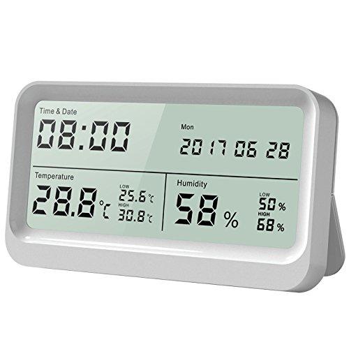 Elektronik Digital Temp Humidity Thermometer Hygrometer Luftfeuchtigkeitsmesser