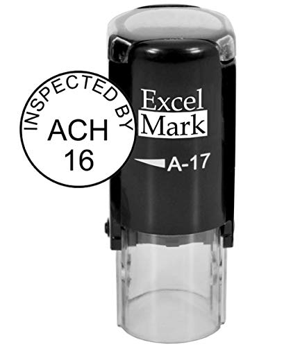 (ExcelMark Custom Round Self Inking Inspection Stamp - 5/8